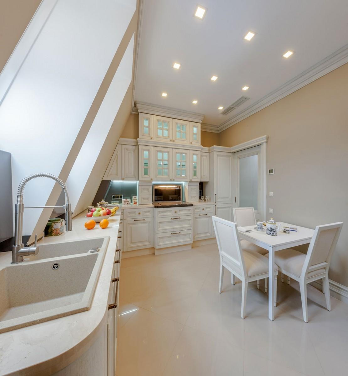 Кухня, вид 2, квартира 11, дом 800, КП Довиль