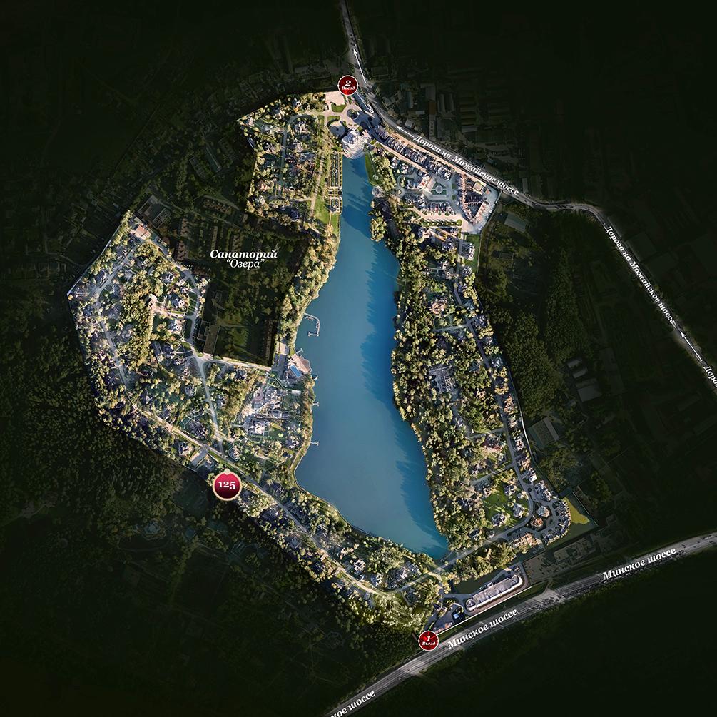 Расположение Дома Тамуа на генплане поселка Довиль