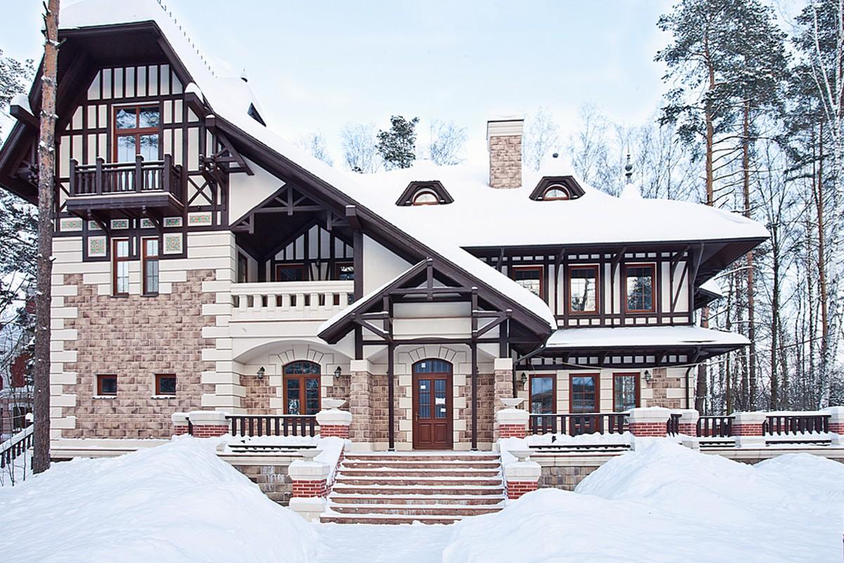 Дом Сан Жерма в КП Довиль, зима
