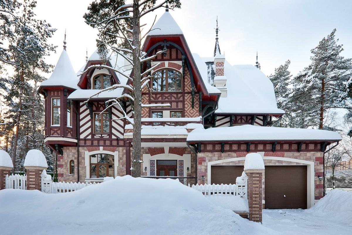 Зимняя фотография дома Триер в КП Довиль