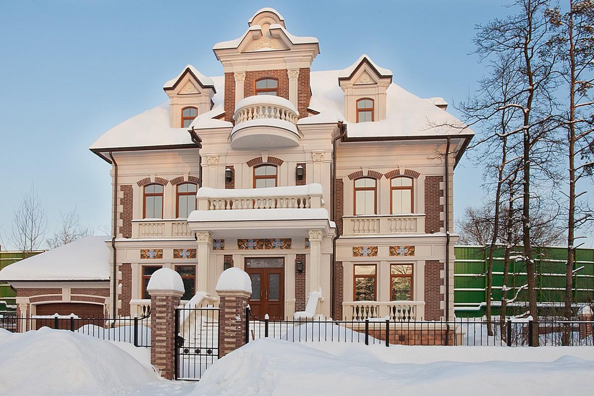 Дом 447 в КП Довиль, зима
