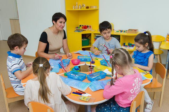 Занятие в детском саду Президент