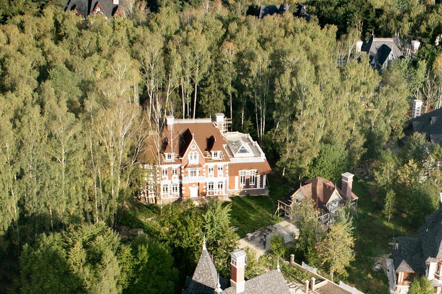 Дом Соваж в КП Довиль с воздуха