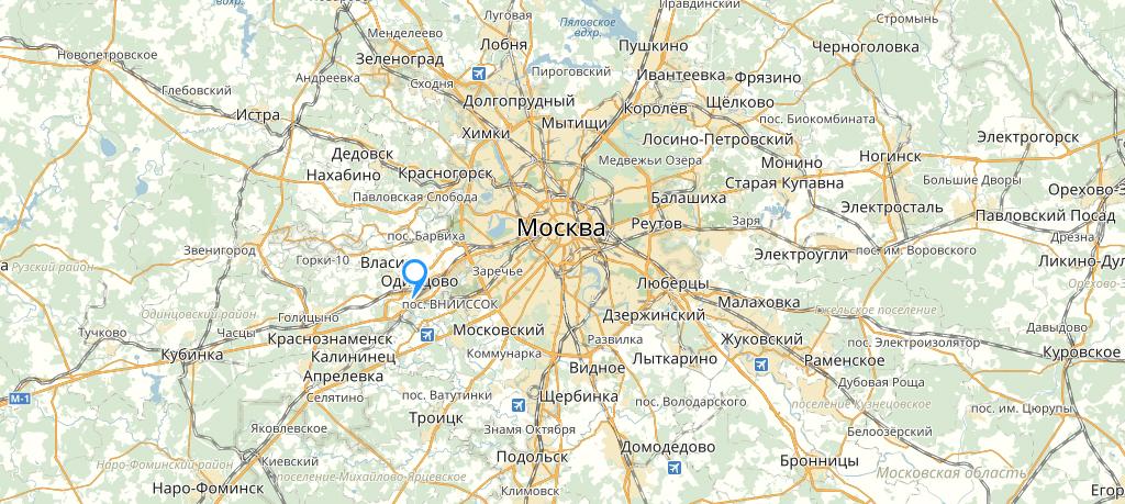 Довиль на карте Подмосковья