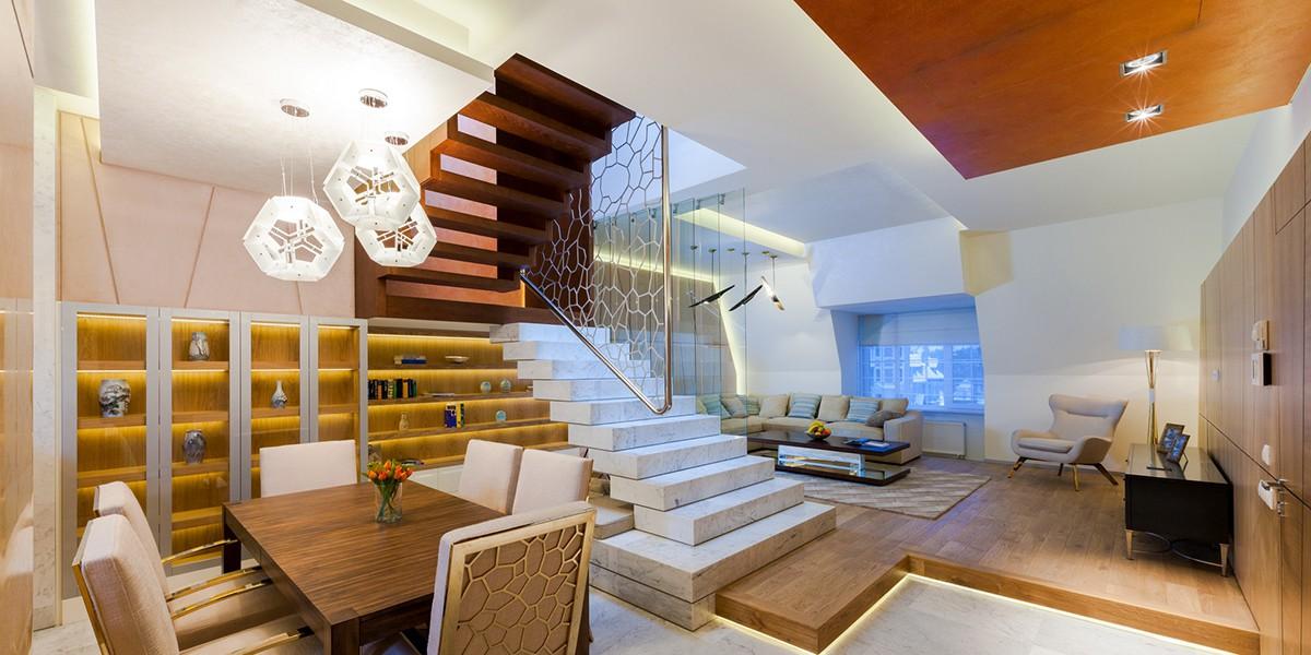 Гостиная квартиры 3 в доме 800, КП Довиль, вид 1
