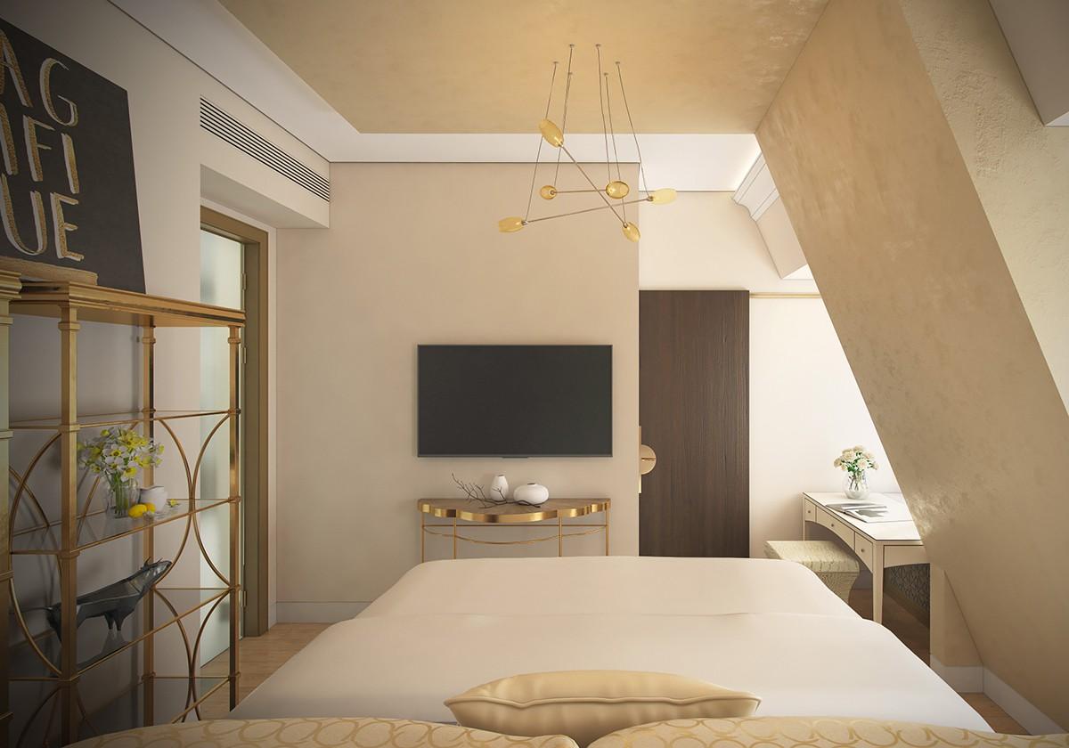 Спальня 2 квартиры 9 в КП Довиль, дом 800, вид 2