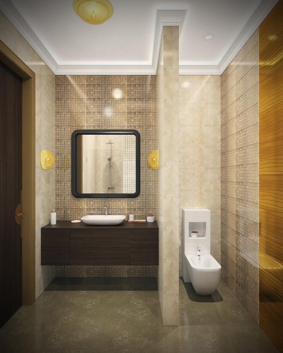 Ванная комната 1 в квартире 9, дом 800, поселок Довиль, вид 1