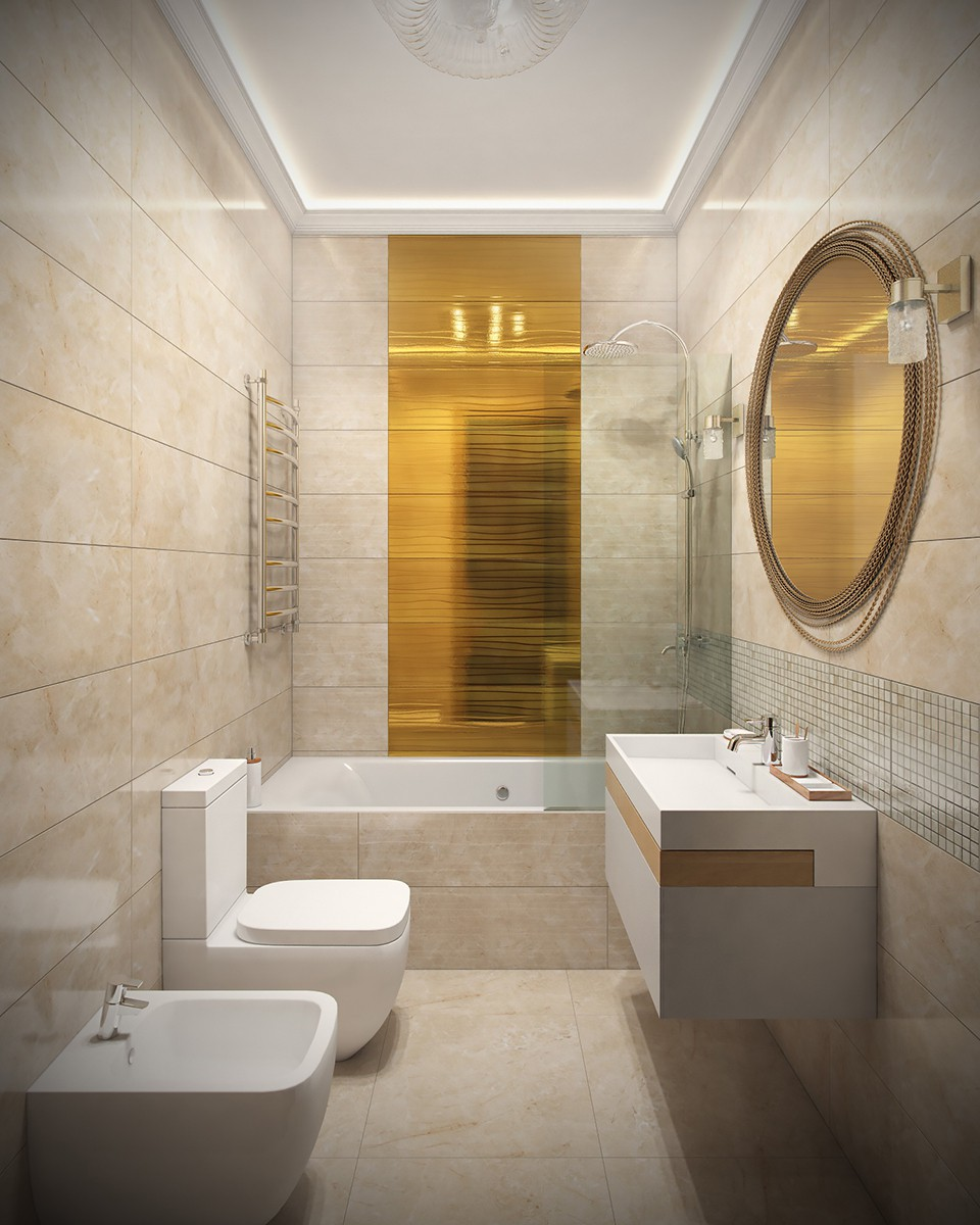 Ванная комната 1 в квартире 9, дом 800, коттеджный поселок Довиль, вид 2