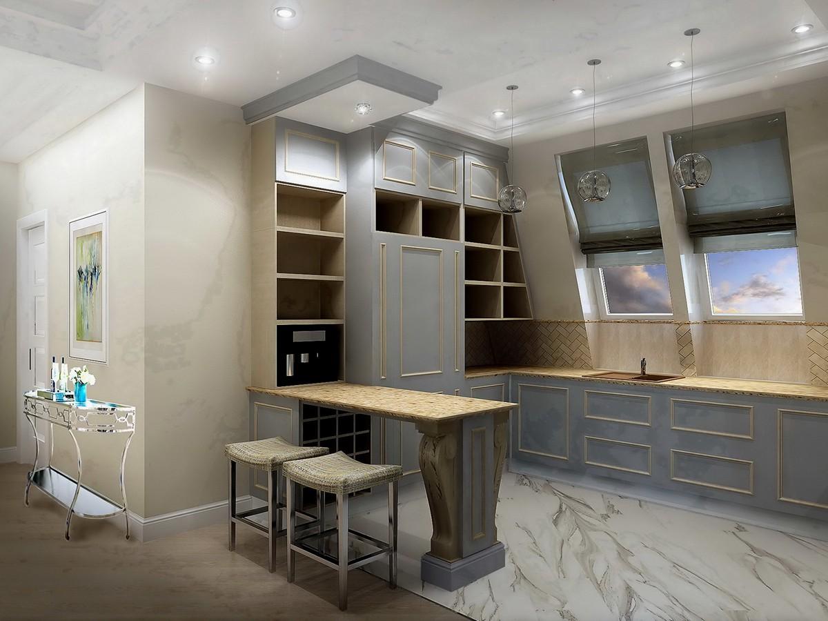 Кухня квартиры 10 в доме 800, коттеджный поселок Довиль