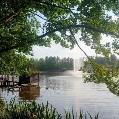 Фонтан на озере в кп Довиль