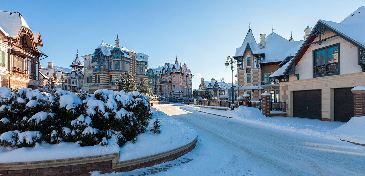 Улица очищена от снега, КП Довиль