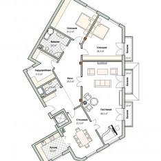 Квартира под отделку в кп Довиль