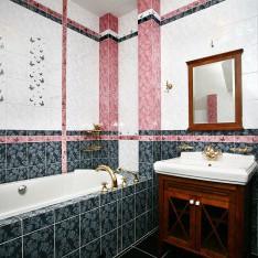 Ванная комната на мансарде дома Бремен, поселок Довиль