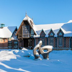 Летнее кафе в КП Довиль, зимой