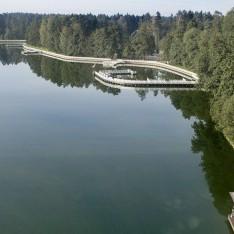 Вид на озеро сверху, КП Довиль
