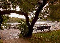 Лавочка на берегу озера, КП Довиль
